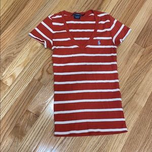 Ralph Lauren Tops - Ralph Lauren Sport Red Striped Cotton tee shirt